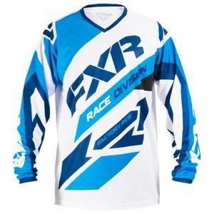 FXR Clutch Air MX Jersey Blue & White
